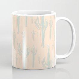 Peachy Arizona Saguaros Coffee Mug
