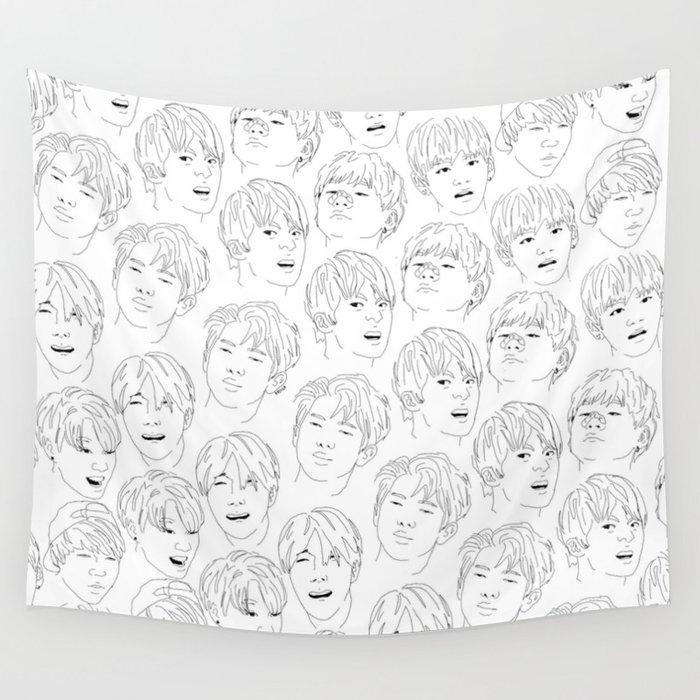 Bangtan Meme Print Wall Tapestry