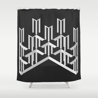 illusion Shower Curtains featuring Illusion by designpraxis