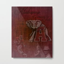 Alabama Crimson Tide University Roll Tide Metal Print