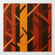 Retro Fall Woods by Friztin Canvas Print