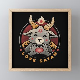 Love Satan Framed Mini Art Print