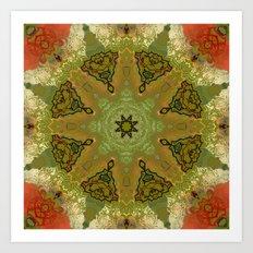 Flowered Kaleidoscope Art Print
