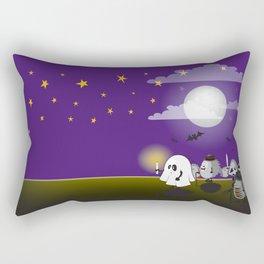 halloween hedgehogs party gang Rectangular Pillow