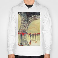 paris Hoodies featuring Winter in Paris by takmaj