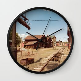 Siding Leading to Roundhouse Past Machine Shop East Broad Top Pennsylvania Wall Clock