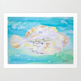 Fish Printwork Art Print