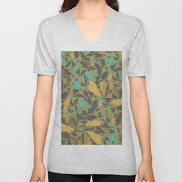 Blowing Leaves Abstract Unisex V-Neck