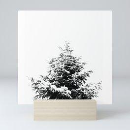 Minimal fir tree portrait Mini Art Print