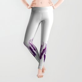 Lavender Field | Purple Flowers in Watercolor Leggings