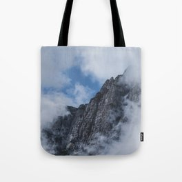 Mountain through Clouds // Landscape Photography Tote Bag