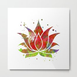 Colorful Lotus Flower Metal Print