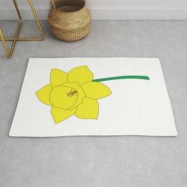 Daffodil Illustration Rug