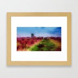Mill on the Hill Framed Art Print