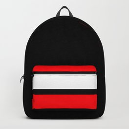 Team Colors 2...red,white and black...stripes Backpack