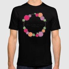 Floral - Drop It MEDIUM Black Mens Fitted Tee