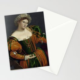 Lorenzo Lotto - Portrait of a Woman Stationery Cards