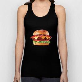 Geometric Bacon Cheeseburger Unisex Tank Top