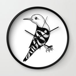 Lost in Its Own Existence (Bird) Wall Clock