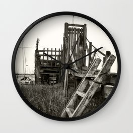 Rickety Jetty Wall Clock