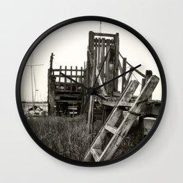 Rickety Jetty Wall Clock