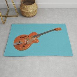 Gretsch Chet Atkins Guitar polygon art Rug