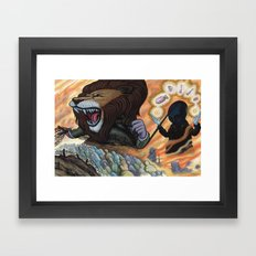 Sentry The Defiant Framed Art Print