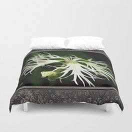 Dianthus named Superbus White Duvet Cover