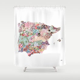 Spain map Shower Curtain