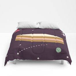 Ham & Cheese in Space Comforters