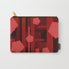 Red Rectangles with Pentagons Carry-All Pouch