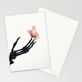 Butterfly on Skeleton Hand Stationery Cards