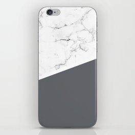 White Marble Pale Grey iPhone Skin