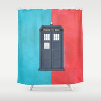 doctor Shower Curtains featuring 10th Doctor - DOCTOR WHO by LindseyCowley