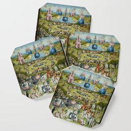 The Garden of Earthly Delights by Hieronymus Bosch (1490-1510) Coaster