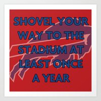 nfl Art Prints featuring NFL - Bills Shovel Your Way by Katieb1013