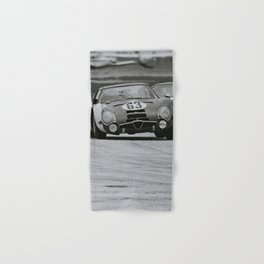 Race car black and white Hand & Bath Towel