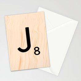 Scrabble Letter J - Large Scrabble Tiles Stationery Cards