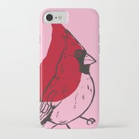 cardinal iPhone & iPod Cases featuring Cardinal by turddemon