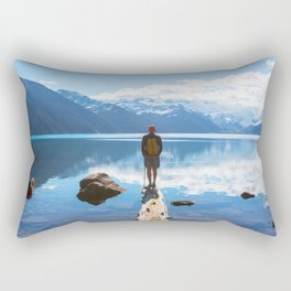 Going to the end of  limit Rectangular Pillow