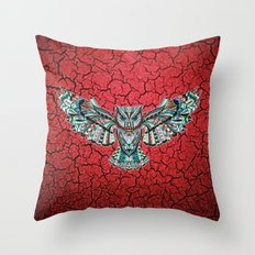 Colorful Owl Pattern Throw Pillow