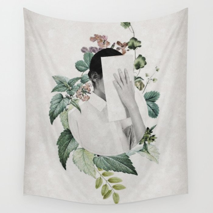 Floral portrait ... Wall Tapestry
