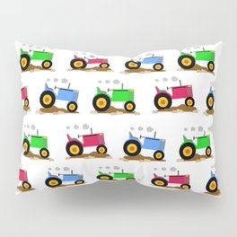 Farm Tractor in the Field Pillow Sham