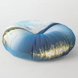 Clinton Gulch // Day Light Mountain Lake Forest Snow Peak Landscape Photography Hiking Decor Floor Pillow