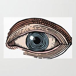 Eye of Providence in Color (transparent design) Rug