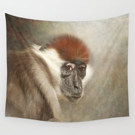Cherry Crowned Mangabey Wall Tapestry
