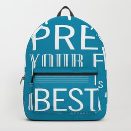 The best way to predict your future is to create it Inspirational Quote Design Backpack