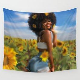 Summer girl Wall Tapestry