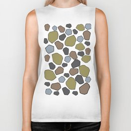 Several abstract terrazo shapes in many colors perfect for garment and accesories Biker Tank