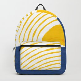 Sun Rise Blue Yellow Goache Painting Backpack
